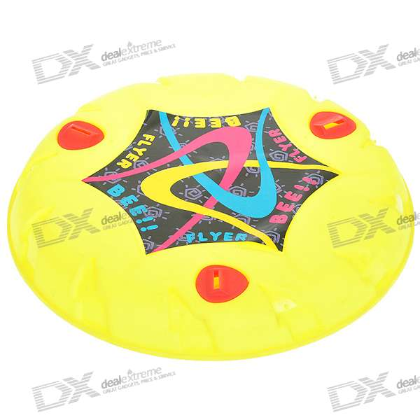 Plastic Frisbee with 3 Whistle (Color Assorted)