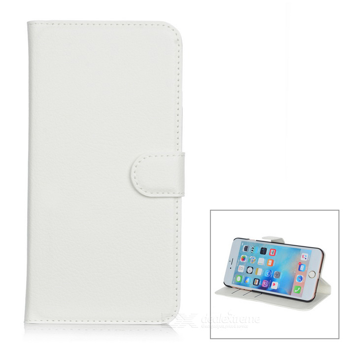 Lichee Pattern Protective Case for IPHONE 6 PLUS / 6S PLUS - White