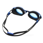 Anti Fog Waterproof Swim Goggles Swimming Glasses - Black + Clear Blue