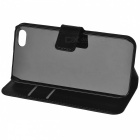 Lichee Pattern Protective Case for IPHONE 5 / 5S - Black