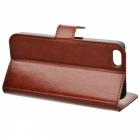 Lichee Pattern Protective Case for IPHONE 5 / 5S - Brown