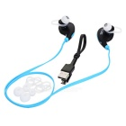 S-What Bluetooth Mega Bass Stereo In-Ear Earphones - Black + Blue