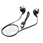 S-What Bluetooth Mega Bass Stereo In-Ear Earphones - Black + Silver
