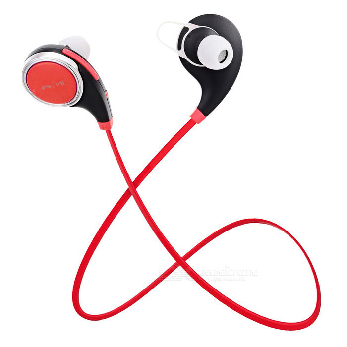 S-What Bluetooth Mega Bass Stereo In-Ear Earphones - Black + Red
