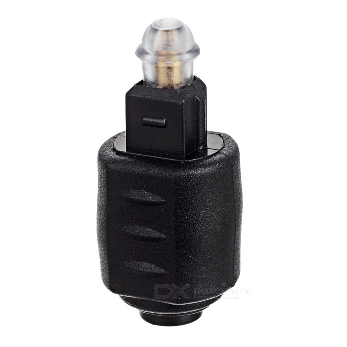 CY Optical Toslink Male to 3.5mm Toslink Female Audio Adapter - Black