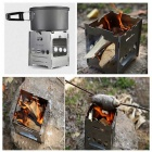 FREE SOLDIER AI0068 Portable Camping Cooking Stove - Silver