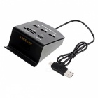 Cwxuan Type C/Micro USB/USB 2.0 to 3*USB Hub + MS/SD/M2/TF Card Reader