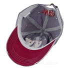 Fashionable Unisex W Baseball Cap Vintage Hat - Grey + Red