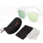 Reedoon 1506 Unisex Sports UV400 Sunglasses - Transparent + Golden