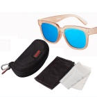 Reedoon 1506 Unisex Outdoor Sports UV400 Sunglasses - Champagne + Blue