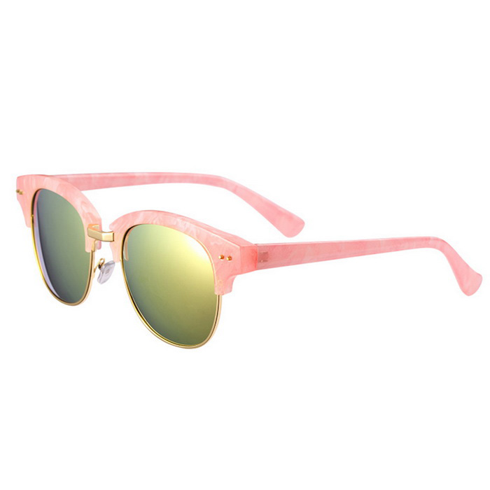 ReeDoon 7806 UV400 Protection Sunglasses for Women - Pink + Golden