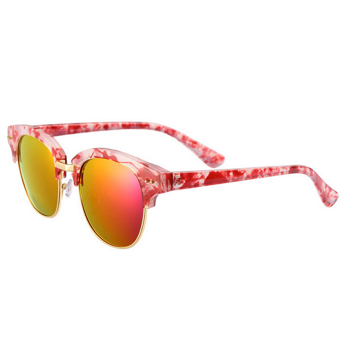 ReeDoon 7806 UV400 Protection Sunglasses for Women - Red + Purple
