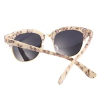 ReeDoon 7806 UV400 Protection Sunglasses for Women - Beige + Silver
