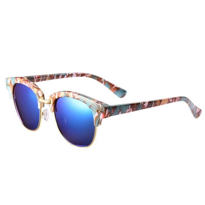 ReeDoon 7806 UV400 Protection Sunglasses for Women - Multicolor + Blue