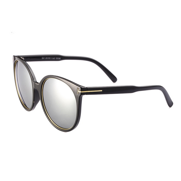 ReeDoon SK707 Women's UV400 Protection Sunglasses - Black + Silver