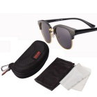 ReeDoon 7806 UV400 Protection Sunglasses for Women - Black + Grey
