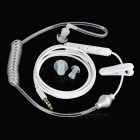 Universal 3.5mm Spring Wire  Single Earphone - White