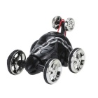 35MHz 6CH Mini RC Rolling Rotating Wheel Stunt Car for Kids - Black