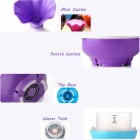 Portable Mini Vase Air Humidifier & LED Nightlight - White + Purple