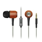 GeekRover Wooden In-ear Noise-isolating Bass Earbuds/Earphone - White
