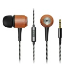GeekRover Wooden In-ear Noise-isolating Bass Earbuds/Earphone - Black