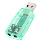 Mini USB 2.0 3D Sound Card Adapter - Translucent Green