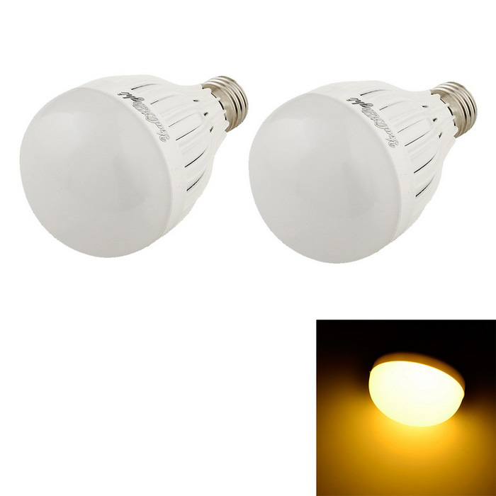 YouOKLight E27 5W 10 SMD 5730 Warm White Lâmpadas LED (AC 220-240V / 2PCS)