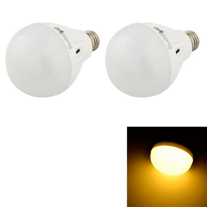 YouOKLight E27 5W 12-SMD 5730 Warm White LED Bulb Lamps (AC 220V/2PCS)