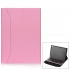 Bluetooth Aluminum Alloy 64-Key Keyboard PU Leather Stand Cover