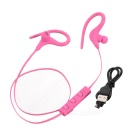 Kin-77 Portable Ear Hook Sports Bluetooth Earphones with Mic - Pink