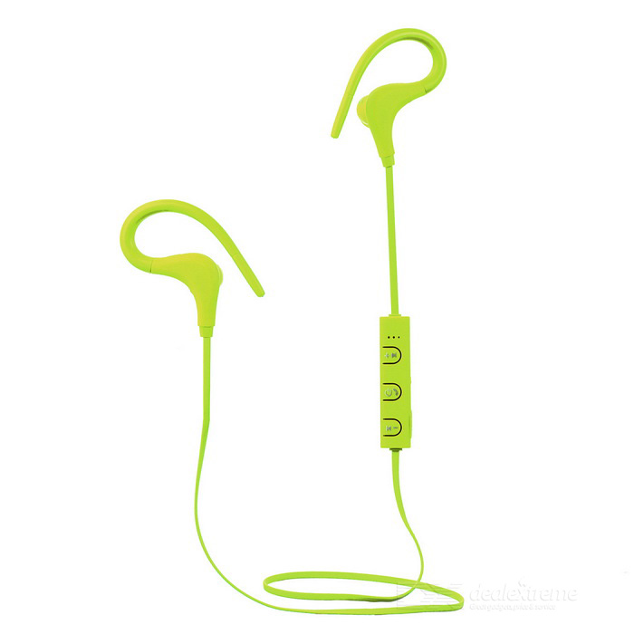 Kin-77 Portable Ear Hook Sports Bluetooth Earphones - Yellowish-green