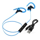 Kin-77 Portable Ear Hook Sports Bluetooth Earphones - Blue + Black