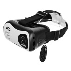 VR Virtual Reality 3D Glasses + Bluetooth Controller - Black + White