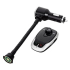 Car BT Handsfree MP3 FM Transmitter Dual USB Charger - Silver + Black