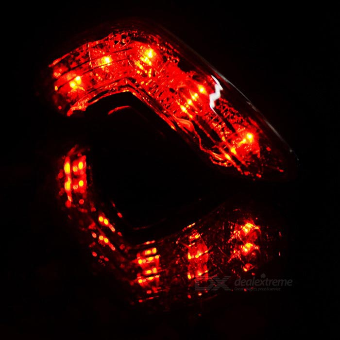 Cool Change 5 Led Red Bike Warning Lamp Tail Light Black