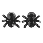 Cute Charming Spider Ear Studs Earnings - Noir (1 paire)