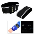 Cool Change Cycling Reflective Belt Ankle Arm Strap - Black + Silver
