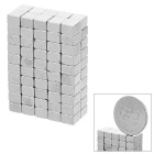 4 * 4 * 3mm Square NdFeB Magnet - Silver (100PCS)