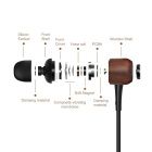 GeekRover Rosewood In-ear Noise-isolating Earbuds/Earphone - Black