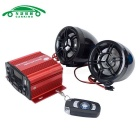 25W Motorcycle Audio System w/ TF & Anti-Theft Alarm - Black + Red