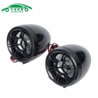 25W Système audio Motorcycle w / TF & Anti-Theft Alarm - Noir + Rouge
