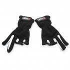 Professional Fishing Antiskid Fabric + Cotton Gloves - Black (Pair)