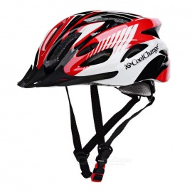 Cool Change Bike Cycling Unisex Safety Helmet - Black + Red + White