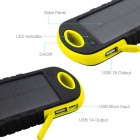 "SUNGZU ""10000mAh"" Dual USB Solar Power Bank + brújula - Amarillo + Negro"