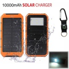 "SUNGZU ""10000mAh"" Dual USB Solar Power Bank w/ Compass - Orange +Black"
