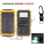 "SUNGZU ""10000mAh"" Dual USB Solar Power Bank w/ Compass - Yellow +Black"