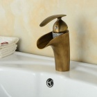 YDL-0679 Fashionable Antique Waterfall Bathroom Sink Faucet - Bronze