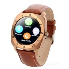 "DM88 1.22"" Smart Watch w/ Heart Rate Monitor, Sedentary Remind - Gold"