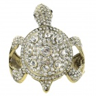 Rhinestones Studded Tortoise Modelling Bangle - Bronze + White