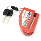 IZTOSS L1003R 6mm Motorcycle Waterproof Alarm Lock Disc-Lock - Red
